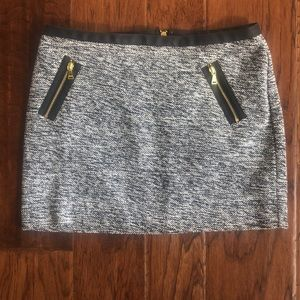 Express mini skirt with gold zippers